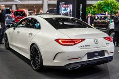Coup? di Mercedes Benz CLS 400 d 4Matic, terza generazione, C257, automobile della berlina di 4 porte immagini stock
