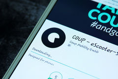 COUP eScooter Sharing app Stock Photo
