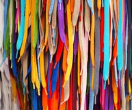 Coup lumineux coloré de dentelles dans le magasin Image libre de droits