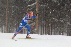 Coup manqué de biathlon - Gabriela Soukalova Photo stock