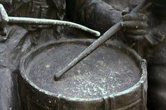 Coup sur le tambour photographie stock