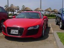 Coupe Audi R8 V8 FSi припарковал в Chorrillos, Лиме Стоковое Фото