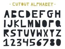 Coupe-circuit ABC - alphabet latin Lettres faites main uniques dans le style scandinave Photo libre de droits