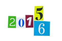 Coupe-circuit de papier nombres de 2015 et 2016 ans Photo libre de droits