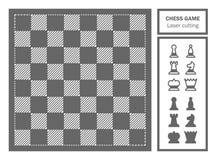 Coupe décorative de laser de jeu d'échecs illustration de vecteur