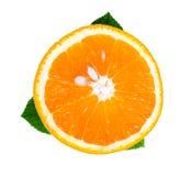 Coupe d'orange Photo libre de droits