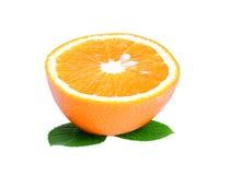 Coupe d'orange Photos libres de droits