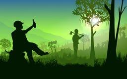 Coupe d'un arbre Images libres de droits