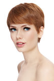 Coupe de cheveux courte Photo stock