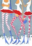 Coupe de cheveux intime illustration libre de droits