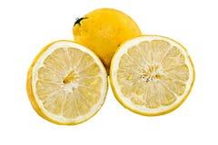Coupe de citron photographie stock libre de droits