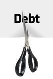 Coupe de dette image libre de droits