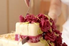 Coupe de gâteau Photos libres de droits