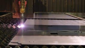Coupe de laser ou de plasma de feuillard banque de vidéos
