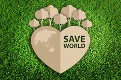 Coupe de papier d'eco images stock