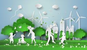 Coupe de papier d'eco illustration libre de droits