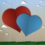 Coupe de papier de coeur d'amour de vélo Image libre de droits