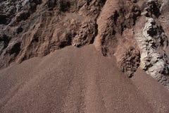 Coupe de sol avec différentes couches Photo stock