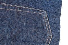 Coupe de tissu de blues-jean Photos libres de droits