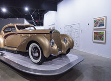 Coupe 1937 Delage D8-120 золота Aerosport Стоковое Фото