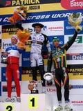 Coupe du monde 2010-2011 de Cyclocross à Igorre Images stock