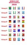 Coupe du monde 2010 groupes de vecteur Illustration Stock