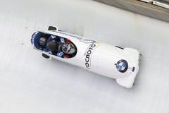 Coupe du monde d'Alexander Kasjanov BMW IBSF Koenigssee 2016 Photo libre de droits