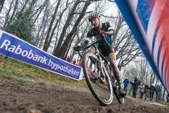 Coupe du monde d'UCI Cyclocross - Hoogerheide, Pays-Bas photos libres de droits