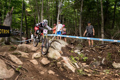 Coupe du monde d'UCI en descendant 2013, Mont Ste-Anne, Beaupr Photo stock