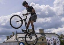 Coupe du monde dans des bicyclettes d'essai Photographie stock