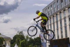 Coupe du monde dans des bicyclettes d'essai Photo libre de droits