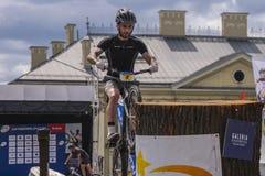 Coupe du monde dans des bicyclettes d'essai Photos stock