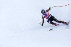 Coupe du monde de Fis de place d'Erik Guay troisième Bormio 2013 image libre de droits