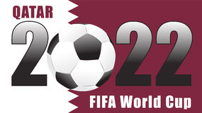 Calendrier 2022 dimanche de vecteur illustration de - Qatar football coupe du monde ...