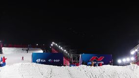 Coupe du monde de ski de style libre à Moscou, Russie banque de vidéos