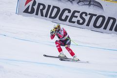 Coupe du monde de ski de freeride de Bormio 12/28/2017 Photos libres de droits