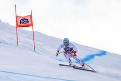 Coupe du monde de ski de freeride de Bormio 12/28/2017 Photo libre de droits