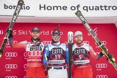 Coupe du monde de ski de freeride de Bormio 12/28/2017 Image libre de droits