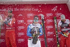 Coupe du monde de ski de freeride de Bormio 12/28/2017 Images libres de droits