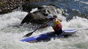 Coupe du monde du slalom ICF de canoë - Stanislav Jezek (République Tchèque) Photos libres de droits
