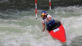 Coupe du monde du slalom ICF de canoë - Jessica Fox (Australie) Images stock