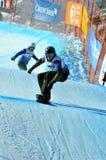 Coupe du monde en travers de Snowboard 2010 : Qualifiés aux finales italiens Photo libre de droits