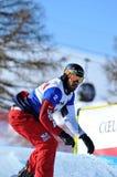 Coupe du monde en travers de Snowboard 2010. Wescott Photo libre de droits