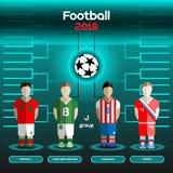Coupe du monde Team Scoreboard Le Maroc, Irlande du Nord, Paraguay, illustration de vecteur
