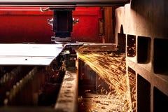 Coupe en acier de laser Photos stock