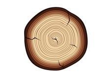 Coupe en bois illustration de vecteur