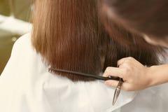 Coupe femelle de cheveux photo stock