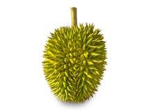Coupe fraîche de fruit de durian sur le fond blanc image libre de droits