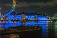 Coupe latérale partielle de l'oeil de Londres Images stock