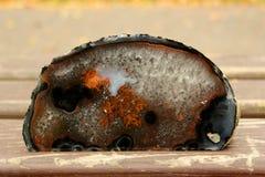 Coupe minérale de pierre d'orange et de Brown Photographie stock libre de droits